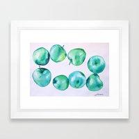 blue apples Framed Art Print