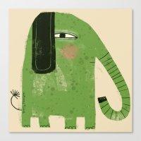 GREEN ELEPHANT Canvas Print