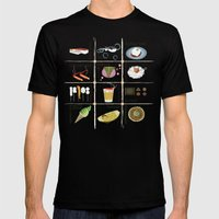 Japanese Food  Mens Fitted Tee Black SMALL