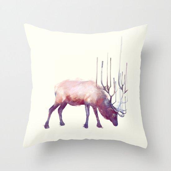 Elk // Solitude Throw Pillow