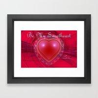 Be My Sweetheart Framed Art Print