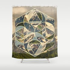 Geometric mountains 1 Shower Curtain