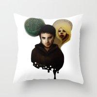 The Master & The BadWolf Throw Pillow
