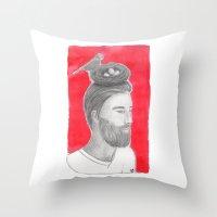 Nest-head Throw Pillow