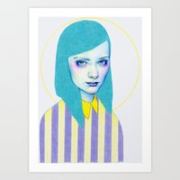 pastel Art Prints featuring Pastel by Natalie Foss