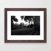 Balinese Monkey Ascendin… Framed Art Print