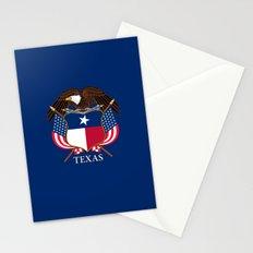 Texas flag and eagle crest - original design by BruceStanfieldArtist Stationery Cards