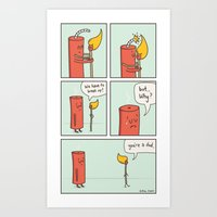 Relationship Fireworks Art Print