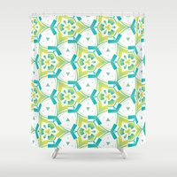 Yellow&blue Shower Curtain