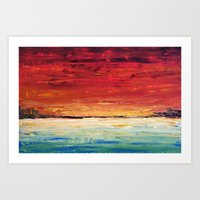Red Meets Sea Art Print