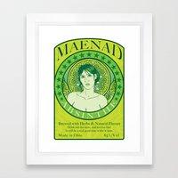 Maenad Absinthe Framed Art Print