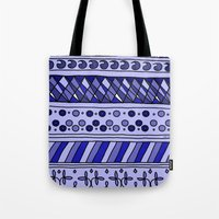 Yzor Pattern 002 Blue Tote Bag