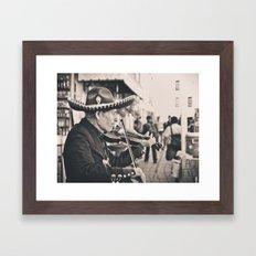 Mr. Violinist Framed Art Print