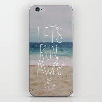 Let's Run Away | Sandy Beach, Hawaii iPhone & iPod Skin
