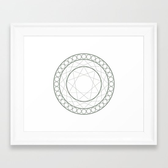 Anime Magic Circle 12 Framed Art Print