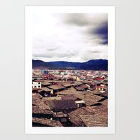 Ancient Chinese cityscape Art Print