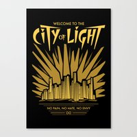 Welcome to the City of Light Canvas Print