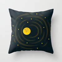 Moon And Stars Dream Throw Pillow