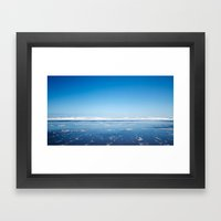 The End Of The Earth. Framed Art Print