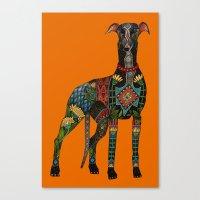 greyhound orange Canvas Print