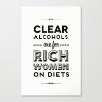 Rich Women Canvas Print