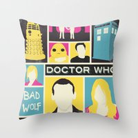 Doctor Who - The Ninth D… Throw Pillow