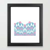 Modern Day Arches Pink Framed Art Print