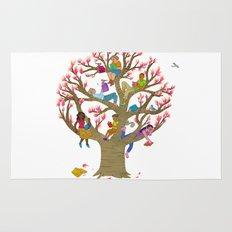Tree Readers Rug