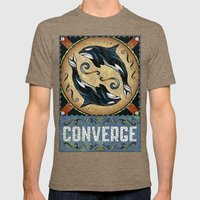 Converge Mens Fitted Tee Tri-Coffee SMALL