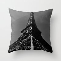 Colliding times Throw Pillow