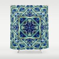 Blue & Green Yin Yang Shower Curtain