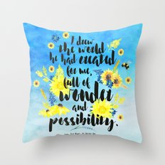 Me Before You - Wonder and Possibility Throw Pillow