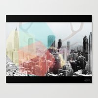 Hipster Horns. Canvas Print
