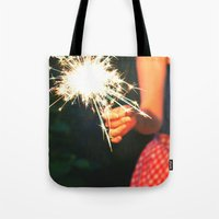 summer sparkler Tote Bag