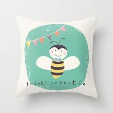 Boris Bee Throw Pillow