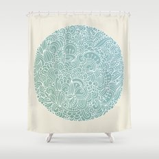 Detailed circle Shower Curtain