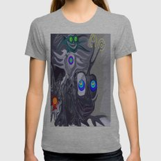 Cai Shen Womens Fitted Tee Athletic Grey SMALL