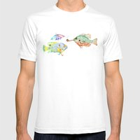 Fishes  Mens Fitted Tee White SMALL