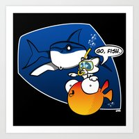 GO, FISH! Art Print
