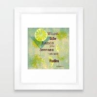 Add Vodka Framed Art Print