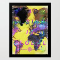 Bad design is global. Art Print