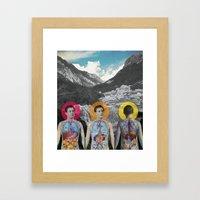 MOUNTAIN ANATOMY Framed Art Print