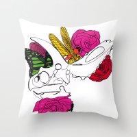 Dinosaur Skull II Throw Pillow