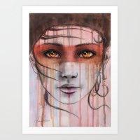 Amber Eyes Art Print