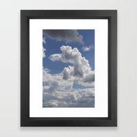 Snoopy Cloud Framed Art Print
