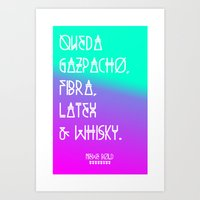 NIEWE_PANGRAMA_SERIES (BOLD) Art Print
