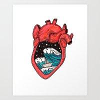Heart Sea Art Print
