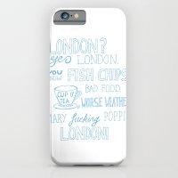 snatch quote blue iPhone 6 Slim Case