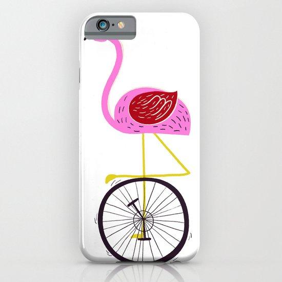 flamingo unicycler iPhone & iPod Case