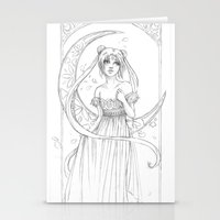 Sailor Moon-B&W Stationery Cards